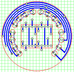 Schematic of the LED circuit board